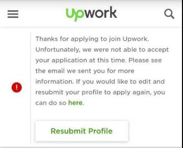 di reject upwork