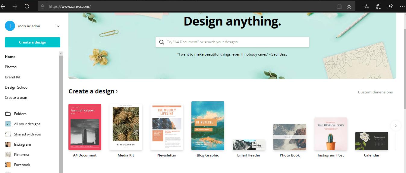 cara membuat blog graphic menggunakan canva
