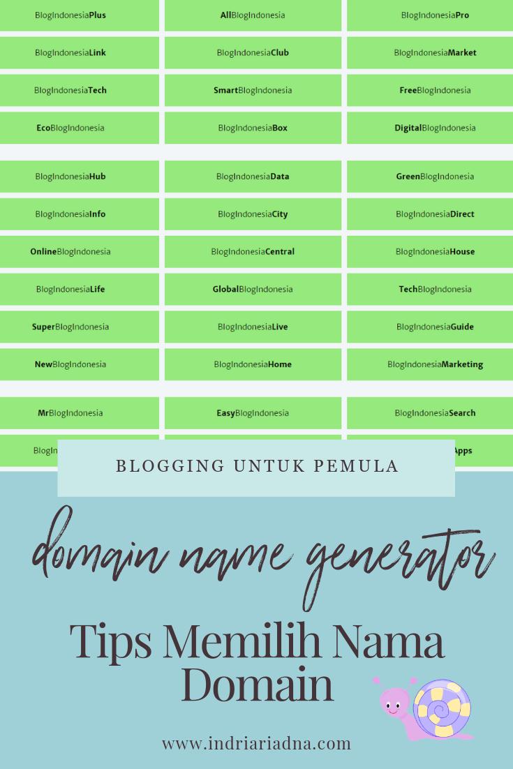 tips memilih nama domain blog