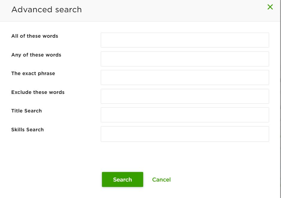 upwork advanced search